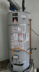 Repaired water heater